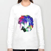 afro Long Sleeve T-shirts featuring Afro by SmartyArt Chick