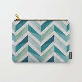 Chevron blue gradient Carry-All Pouch