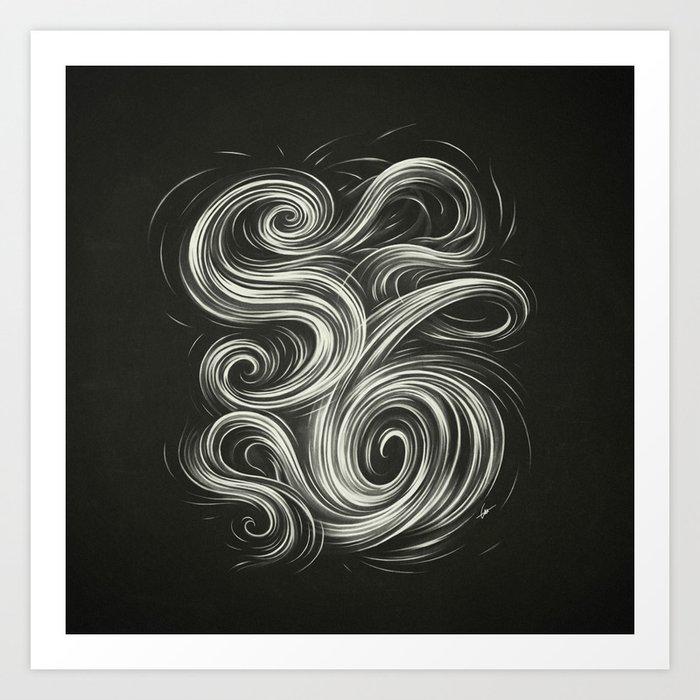 Smoke6 Art Print