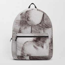 Naked Woman Pencil Drawing Backpack
