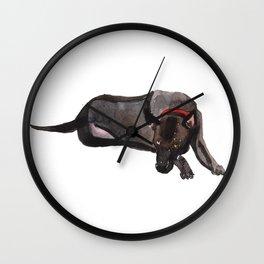 watercolor dog vol 12 ridgeback Wall Clock