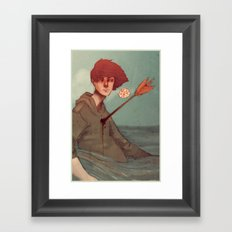 Too Much Worry Framed Art Print