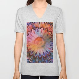 Autumn Rainbow Kaleidoscope Unisex V-Neck