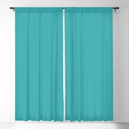 Aqua / Teal / Turquoise Solid Color Pairs with Sherwin Williams 2020 Trending Color Aquarium SW6767 Blackout Curtain