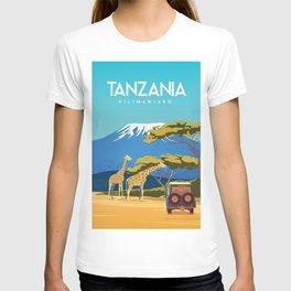 Tanzania travel poster T-shirt