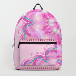 Wedding Day Pink Mandala Trendy Design, Holiday Decoration. Backpack
