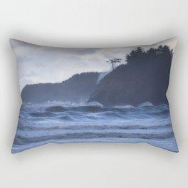 Storm Waves at Trinidad Beach Rectangular Pillow
