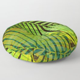 TROPICAL GREENERY LEAVES no1b Floor Pillow