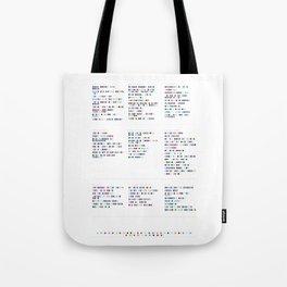 L e d  Z e p p e l i n  Discography - Music in Colour Code Tote Bag