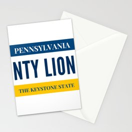 Nittany Lion License Plate Stationery Cards