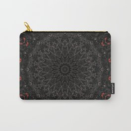Red and Black Bohemian Mandala Design Carry-All Pouch