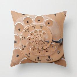 Vintage  Retro Rotary Dial Spiral Droste Throw Pillow