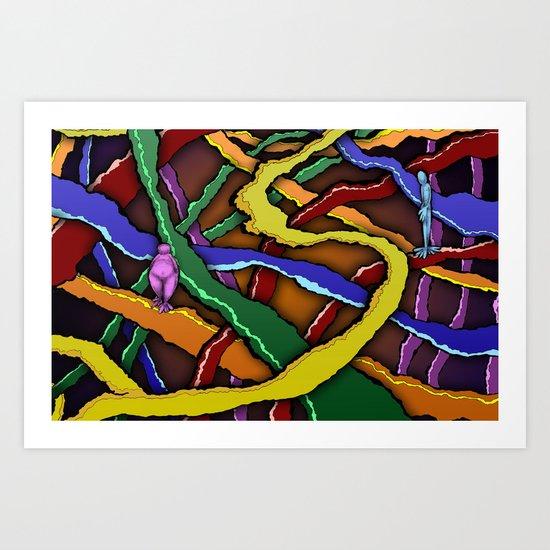 Will our paths EVER cross again? Art Print