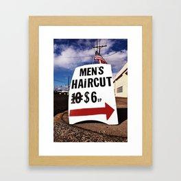 Recession-Era Haircuts Framed Art Print