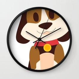 Cartoon Cute Dog Wall Clock