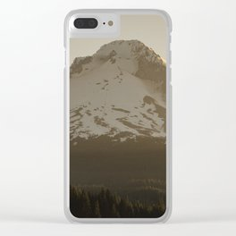 Mountain Moment Clear iPhone Case