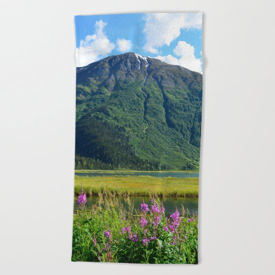 July at Tern Lake Beach Towel