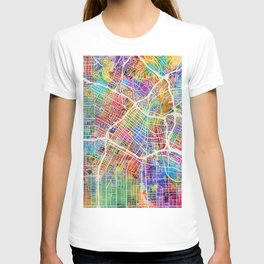 Los Angeles City Street Map T-shirt