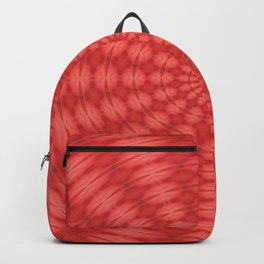 Succulent Red and Yellow Flower Abstract  Backpack