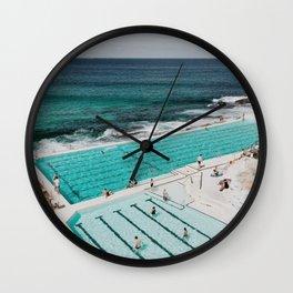 Bondi Icerbergs Wall Clock