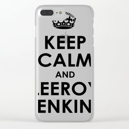 Keep calm and Leeroy Clear iPhone Case