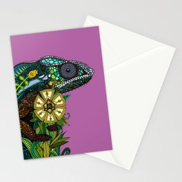 chameleon orchid Stationery Cards