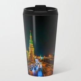 Moscow Kremlin At Night Travel Mug
