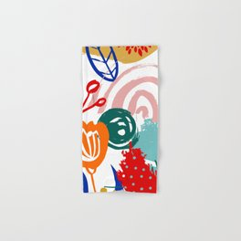 Spring Festival, Botanical, Floral Abstract Hand & Bath Towel