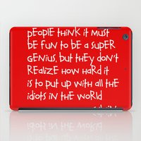 calvin and hobbes iPad Cases featuring Calvin and Hobbes quote by Dustin Hall