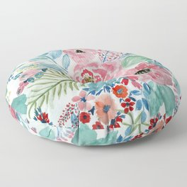 Pretty watercolor hand paint floral artwork. Floor Pillow