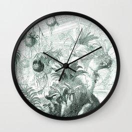 Vintage Botanical illustration, 1837 (Greenhouse) Wall Clock