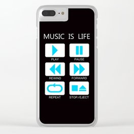 Music Is Life Clear iPhone Case