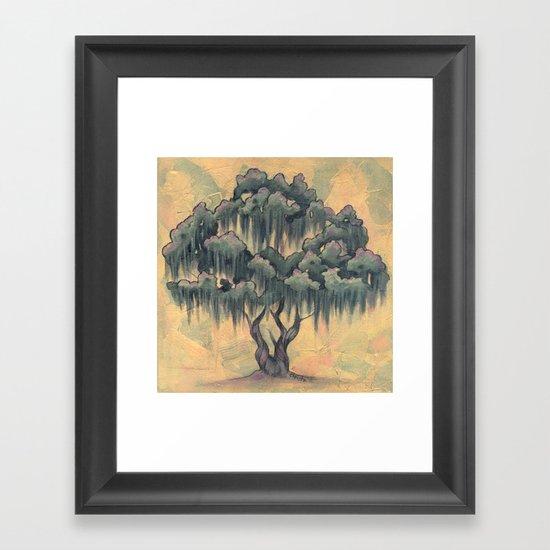 Crepe Myrtle Tree in Bloom Framed Art Print