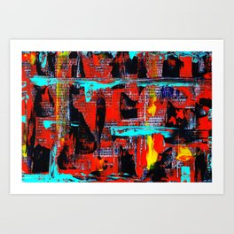 Reflections On 10th Street Art Print