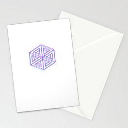 cuboides, geometría ilusoria Stationery Cards