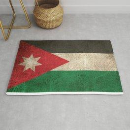 Old and Worn Distressed Vintage Flag of Jordan Rug