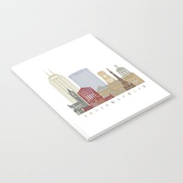 Indianapolis skyline poster Notebook