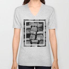 Take a Seat - Black and White Unisex V-Neck