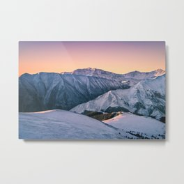 Winter Mountain View Metal Print