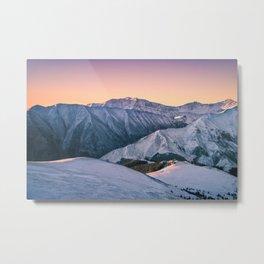 Winter Mountain View Metal Print