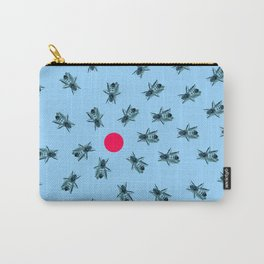 Bees fixated on a red dot. Carry-All Pouch