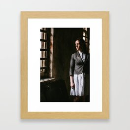 Young Woman by Window Framed Art Print