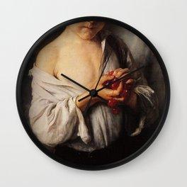 Nikolaos Gyzis - Boy with Cherries Wall Clock