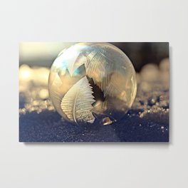 Frozen Bubble Metal Print