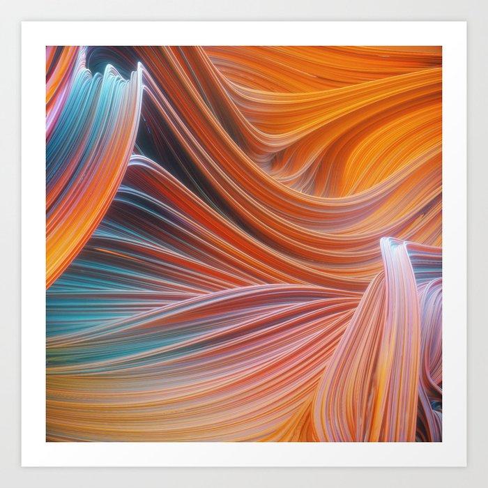 Swirly waves 05 Art Print