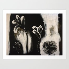 Dark Flowers Art Print