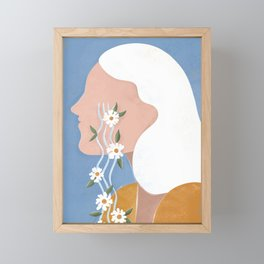 Fierce tears Framed Mini Art Print