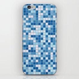 Blue Pool Squares iPhone Skin