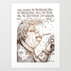 Bäckerin Schmidt Art Print