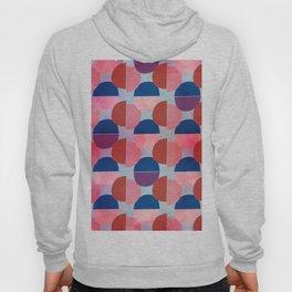 Geometric Abstract Half Round Pattern Hoody